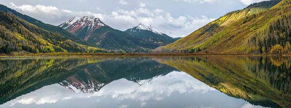 Wall Art - Photograph - Crystal Lake Panorama by Aaron Spong