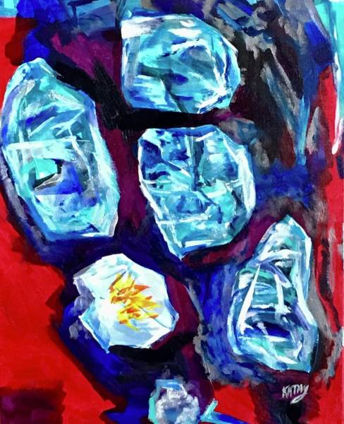 Wall Art - Painting - Crystal Radiation  by Kathy Hauge