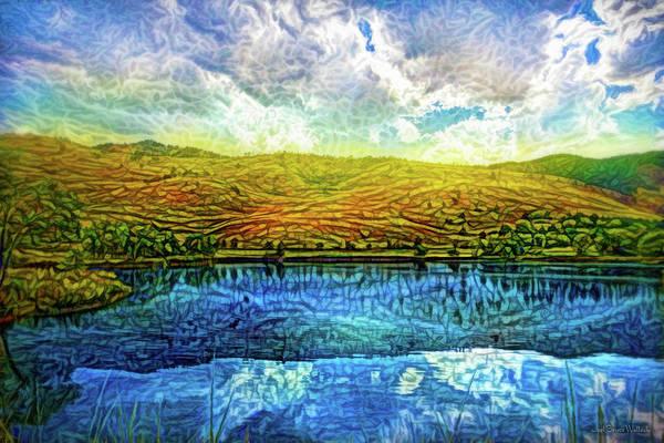 Digital Art - Crystal Sky Reflections by Joel Bruce Wallach