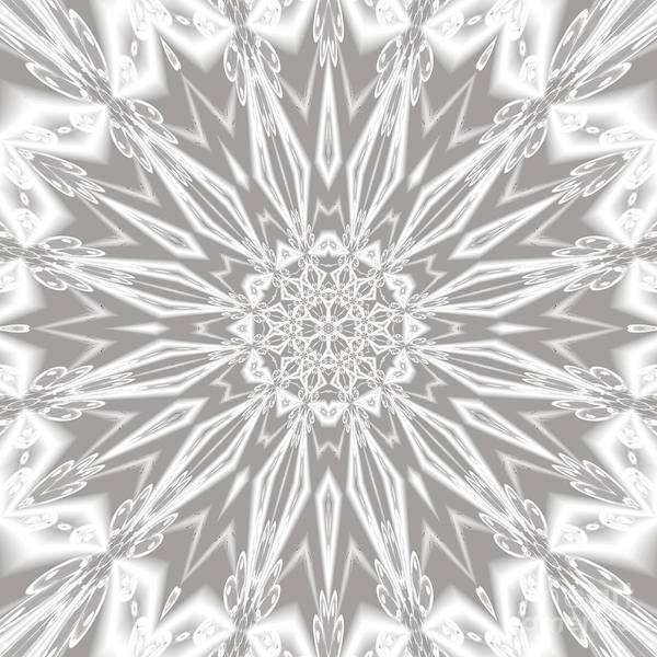 Digital Art - Crystal Star by Rachel Hannah