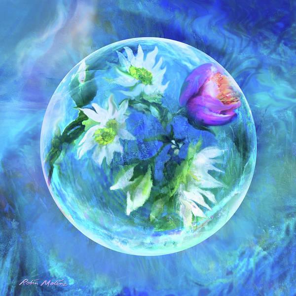 Paladin Digital Art - Crystals Of Blue  by Robin Moline