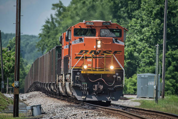 Wall Art - Photograph -  Csx Z901-03 A Rerouted Bnsf Loaded Coal Train by Jim Pearson
