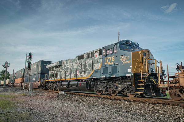 Wall Art - Photograph - Csxt 1776 The New Csx Spirit Of The Armed Forces Locomotive by Jim Pearson