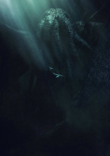 Wall Art - Photograph - Cthulhu And The Whales by Guillem H Pongiluppi