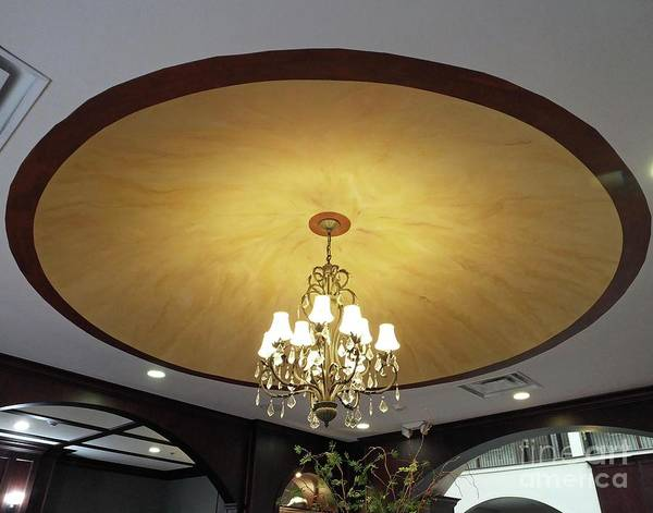 Painting - Cu8 Custom Painted Ceiling Dome Athens Ga by Lizi Beard-Ward