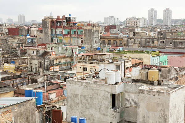 Wall Art - Photograph - Cuba, Havana Overview Of Buildings by Jaynes Gallery
