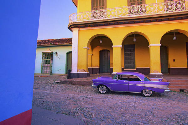 Trinidad Wall Art - Photograph - Cuba, Trinidad, Classic Car By House by Stuart Dee