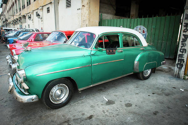 Photograph - Cuban Parking by Laura Hedien