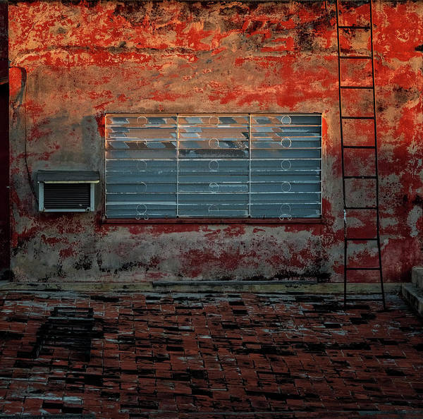 Photograph - Cuban Rooftop Wall by Tom Singleton