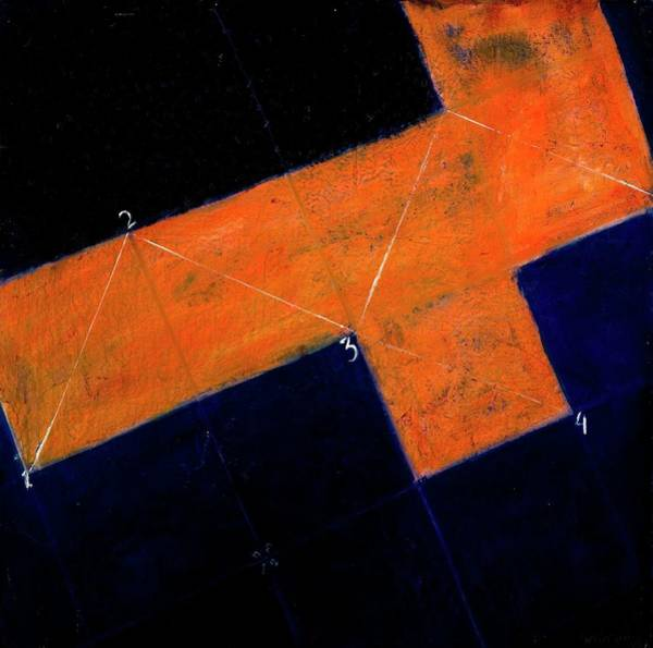 Painting - Cube 1, 1999 Oil On Canvas by Stella Salazar