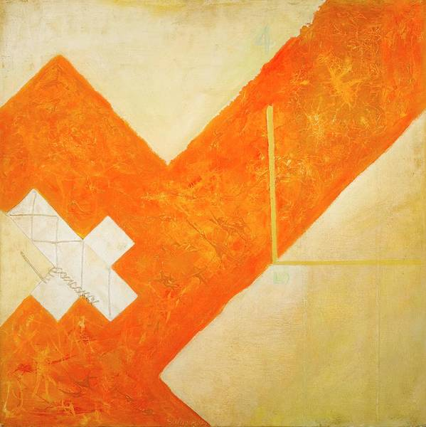 Painting - Cube 46, 1999 Acrylic On Canvas by Stella Salazar