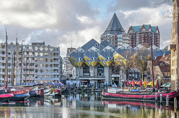 Photograph - Cube Houses And Old Harbour by Frans Blok