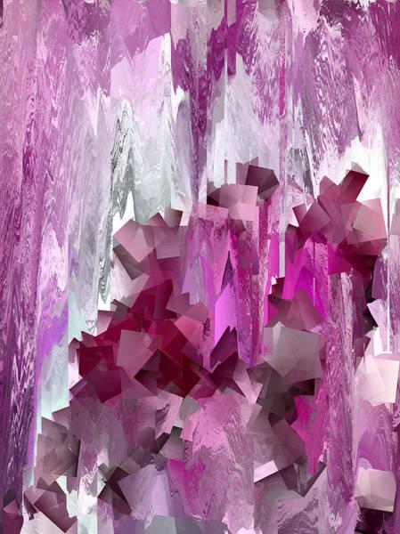 Wall Art - Digital Art - Cube Mountain Abstract 1 by Chris Butler