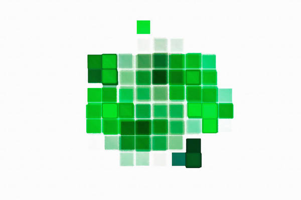 Digital Art - Cubes Abstract Green by Don Northup
