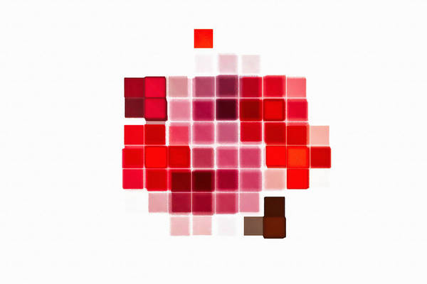 Digital Art - Cubes Abstract Red by Don Northup