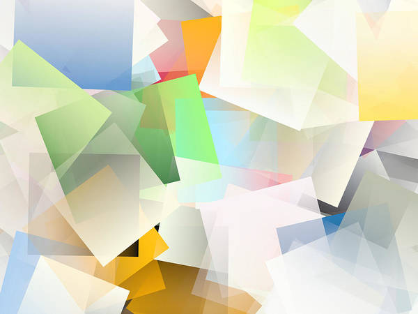 Wall Art - Digital Art - Cubism Abstract 188 by Chris Butler