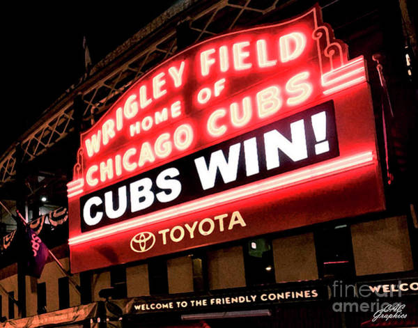 Photograph - Cubs Win by CAC Graphics