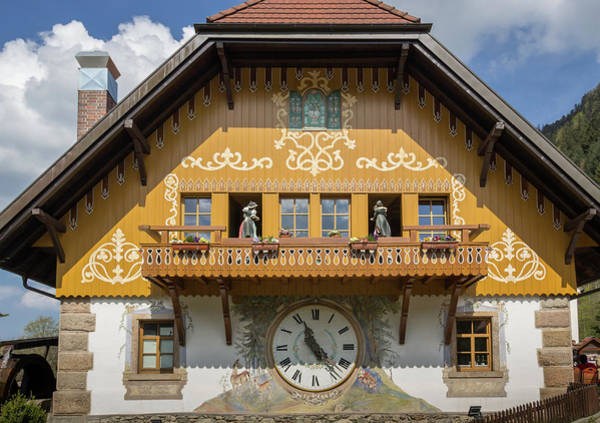 Wall Art - Photograph - Cuckoo Clock In Ravenna Germany by Teresa Mucha