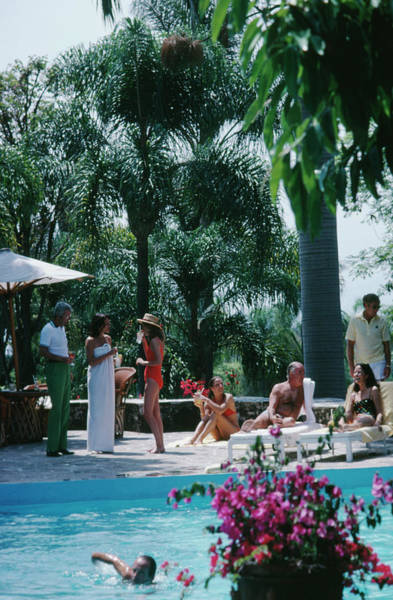 Bougainvillea Photograph - Cuernavaca Resort by Slim Aarons