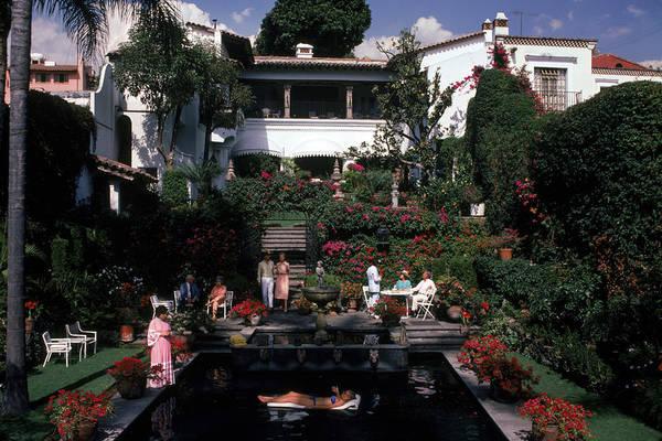 Villa Photograph - Cuernavaca Villa by Slim Aarons