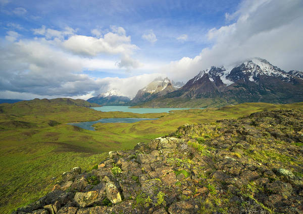 Boil Photograph - Cuernos Del Paine Peaks And Boiling by Eastcott Momatiuk