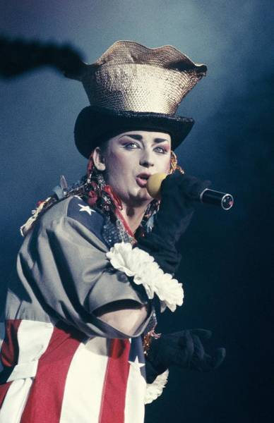 Photograph - Culture Club On Stage In Paris, France by Eric Bouvet