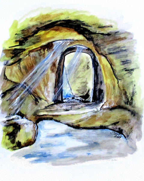 Painting - Cumaean Sibyl Cave by Clyde J Kell