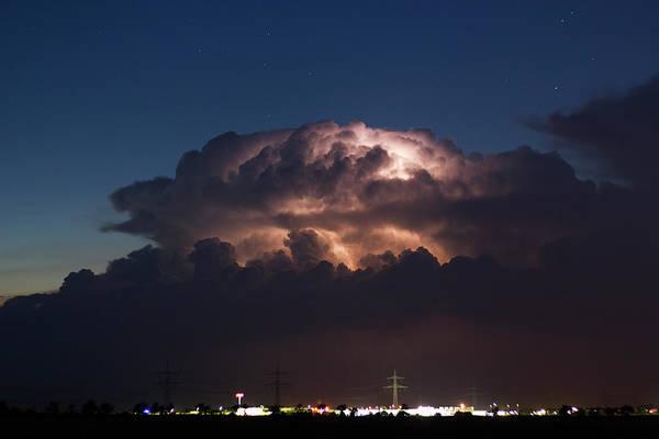June Photograph - Cumulonimbus At Night by Cschoeps