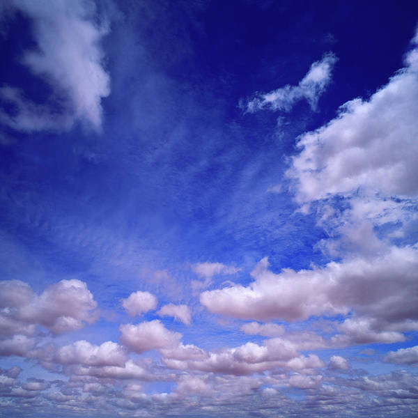 Northern Territory Photograph - Cumulus And Cirrocumulus Clouds In Blue by Lwa