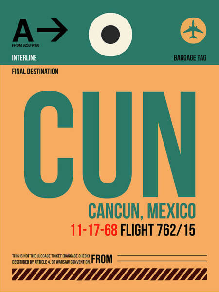 Wall Art - Digital Art - Cun Cuncun Luggage Tag I by Naxart Studio