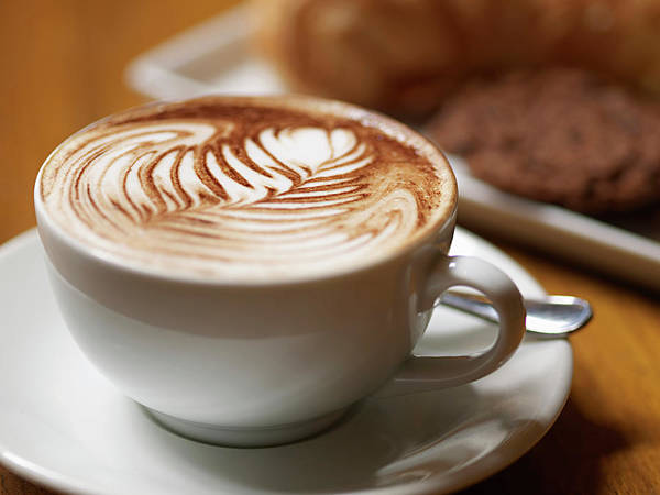 Break Up Photograph - Cup Of Cappuccino With Cookies On by Aagamia