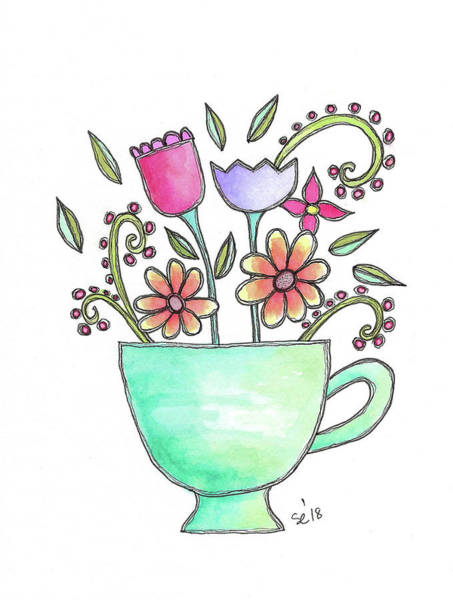 Painting - Cup Of Fun by Susan Campbell