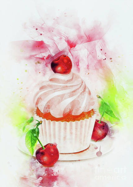 Digital Art - Cupcake Art by Ian Mitchell