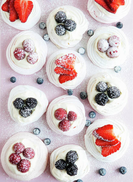 Vertical Line Wall Art - Photograph - Cupcakes With Fruit And Frosting by Cultura Rm Exclusive/line Klein