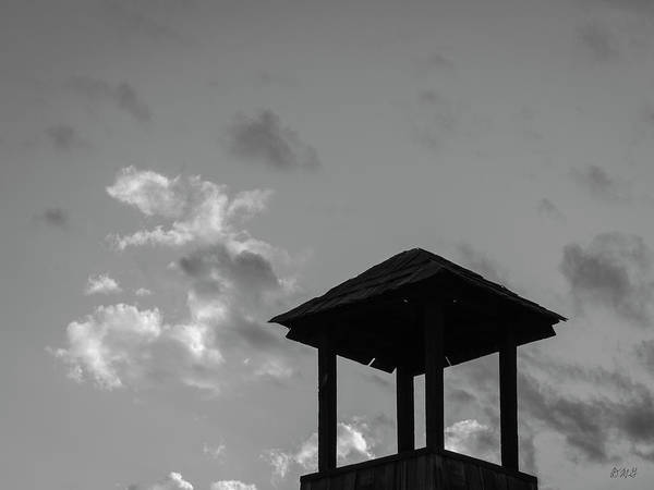 Photograph - Cupelo And Clouds Bw Sq by David Gordon