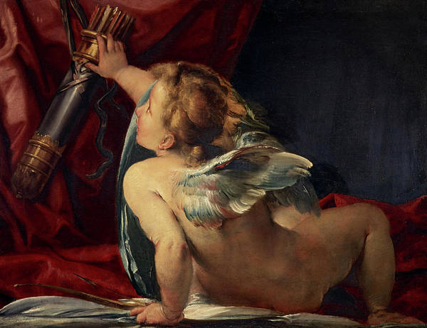 Procaccini Painting - Cupid, 1620 by Giulio Cesare Procaccini