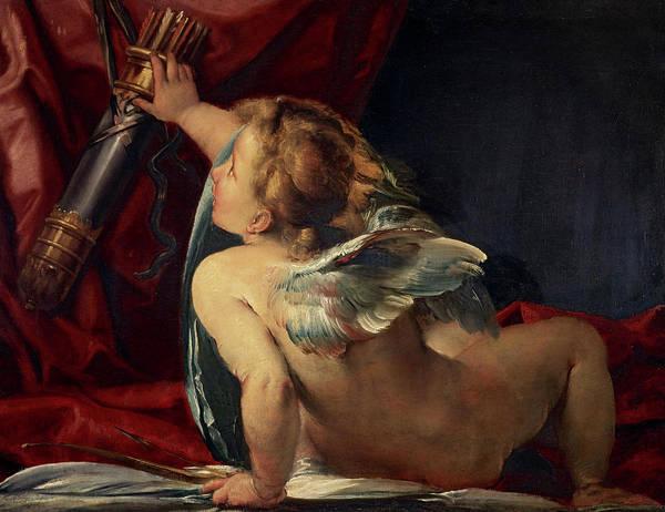 Cesare Painting - Cupid, 1620 by Giulio Cesare Procaccini