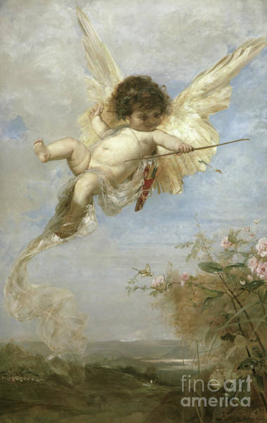 Wall Art - Painting - Cupid, 1878  by Julius Kronberg