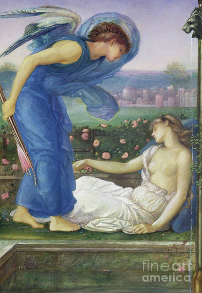 Wall Art - Painting - Cupid And Psyche, Circa 1865 by Edward Coley Burne-Jones