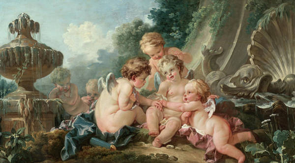 Francois Boucher Painting - Cupids In Conspiracy, 1740 by Francois Boucher