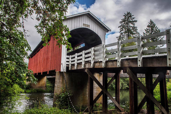 Photograph - Currin Covered Bridge by Matthew Irvin