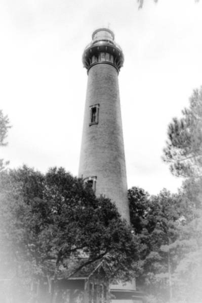 Photograph - Currituck Lighthouse Bw by Jeremy Guerin