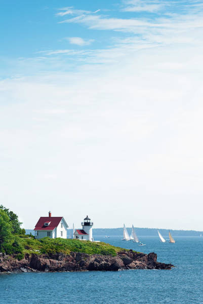 Camden Photograph - Curtis Head Light In Camden, Me With by Gregobagel