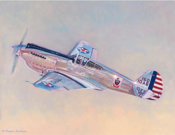 Painting - Curtiss P-40c Warhawk by Douglas Castleman