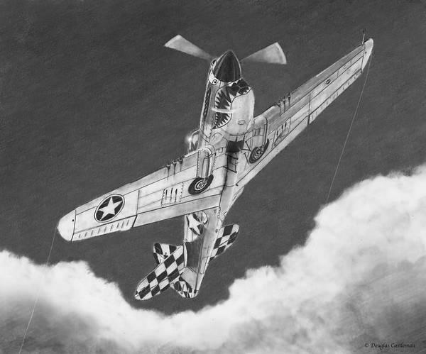 Drawing - Curtiss P-40n Warhawk by Douglas Castleman