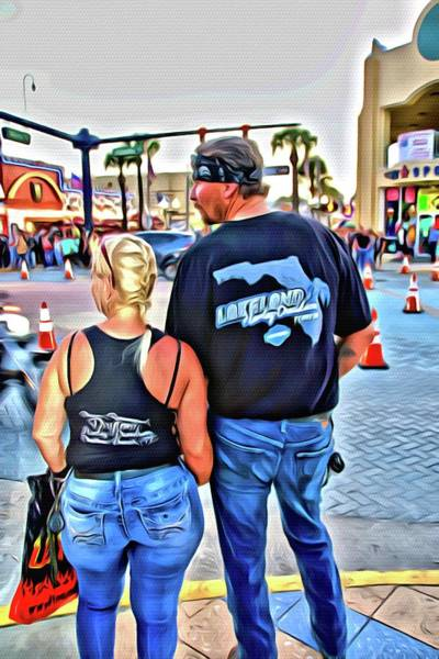 Daytona Bike Week Wall Art - Photograph - Curvaceous by Alice Gipson