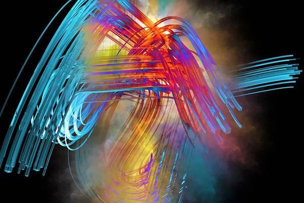 Running Digital Art - Curve by ArtMarketJapan