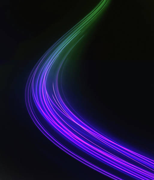 Wall Art - Photograph - Curved Light Trail by Ikon Images