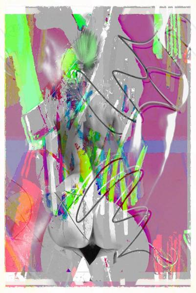 Wall Art - Mixed Media - Curves Collage by Steve K