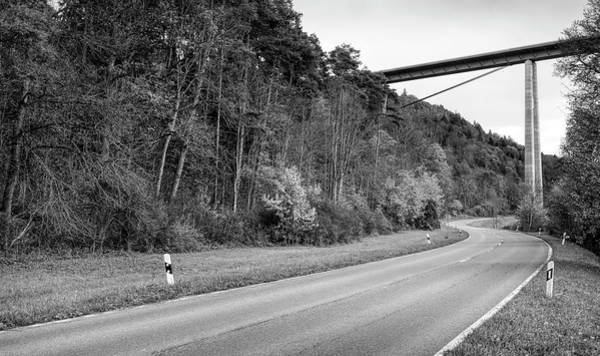 Baden Wuerttemberg Photograph - Curving Country Road In The Neckar by Panoramic Images